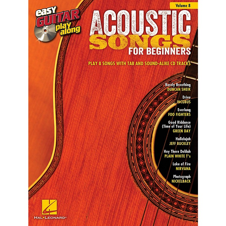 Hal Leonard Acoustic Songs For Beginners Easy Guitar Play-Along Volume 8 (Book/CD)