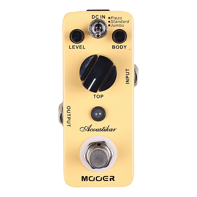 MooerAcoustikar Acoustic Guitar Simulator Effects Pedal