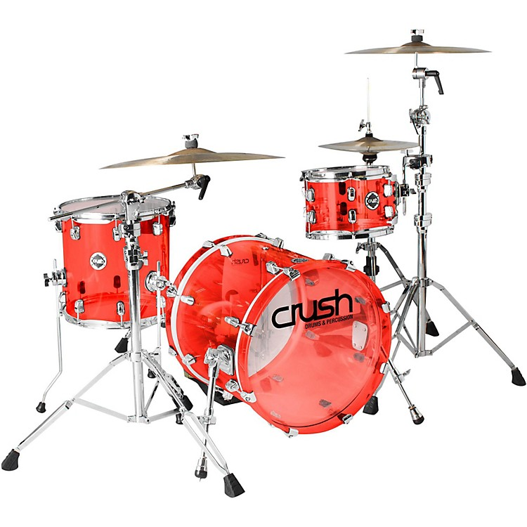 Crush Drums & PercussionAcrylic 3-Piece Bop Shell PackRedChrome Hardware
