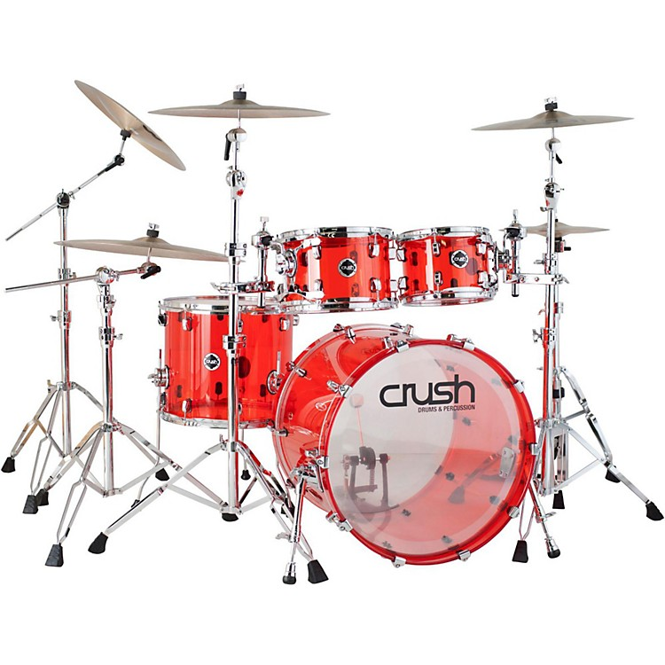 Crush Drums & Percussion Acrylic 4-Piece Shell Pack