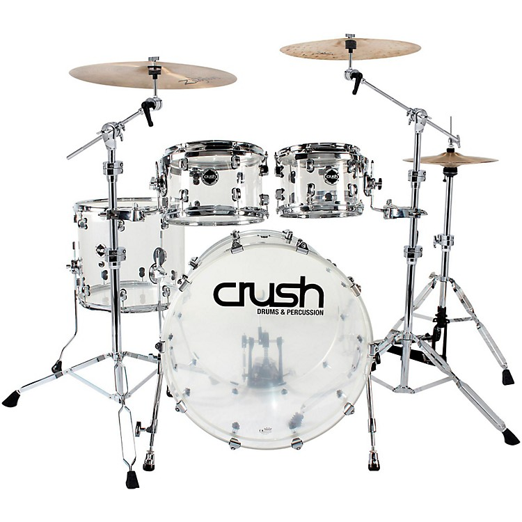 Crush Drums & Percussion Acrylic 4-Piece Shell Pack with 20