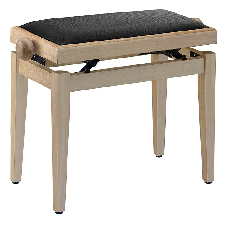 Musician 39 S Gear Adjustable Height Piano Bench Black Velvet Top Natural Matt Finish