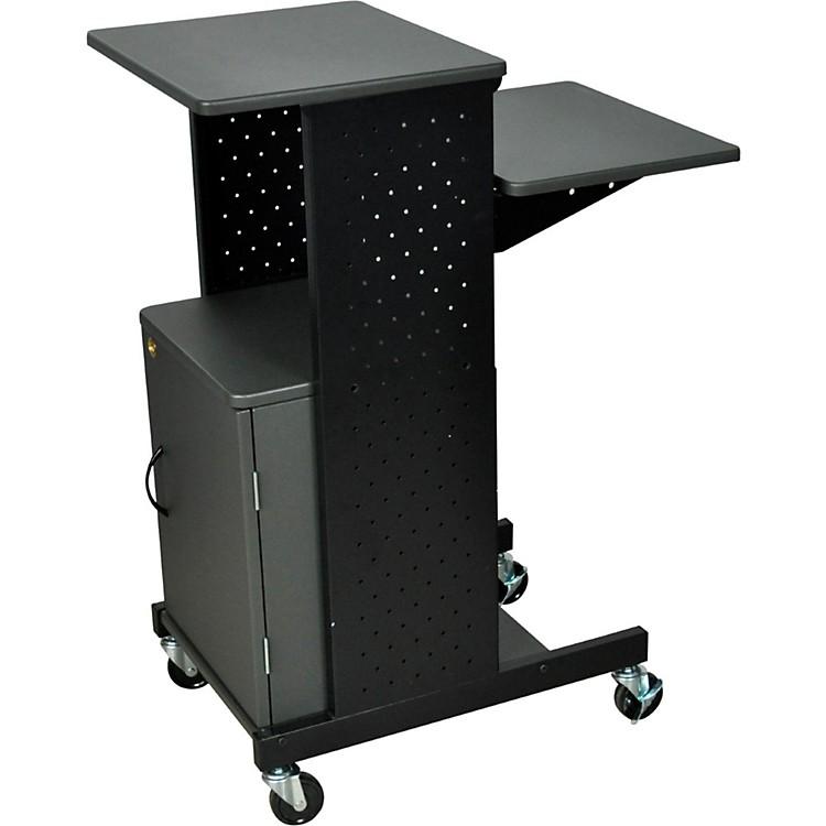 H. WilsonAdjustable Height Presentation Station with Locking Cabinet