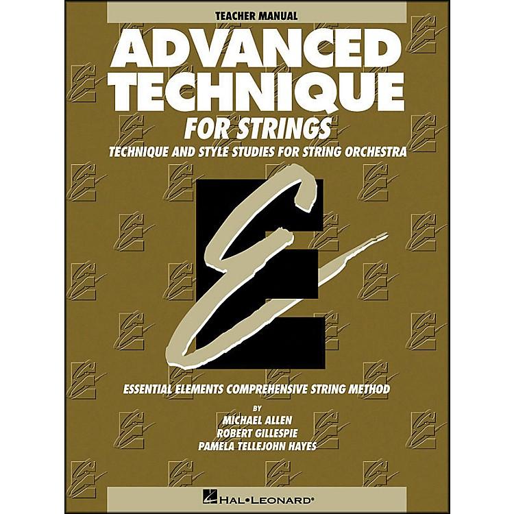 Hal LeonardAdvanced Technique Teacher's Manual for Strings