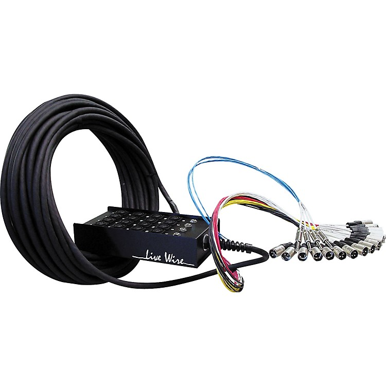 Live Wire Advantage 16-Channel/4-Return Stage Snake  100 ft.