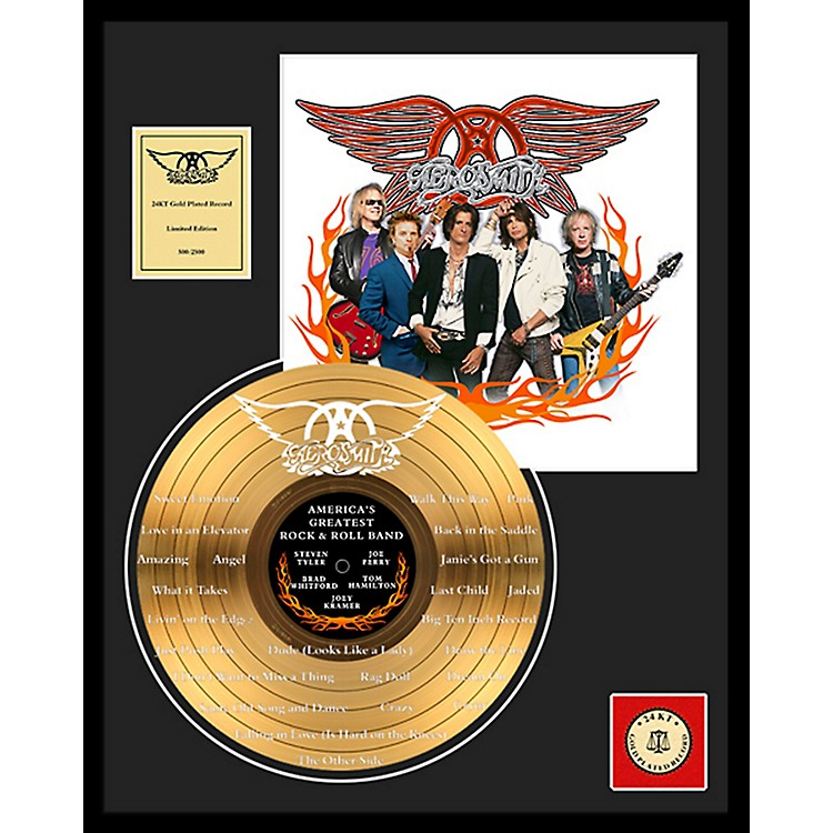 24 Kt. Gold RecordsAerosmith - World's Greatest... Etched Gold LP Limited Edition of 2500