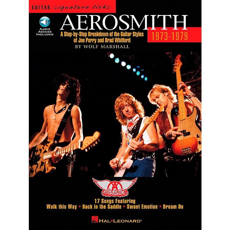 Hal Leonard Aerosmith 1973-1979 Guitar Signature Licks Book with CD