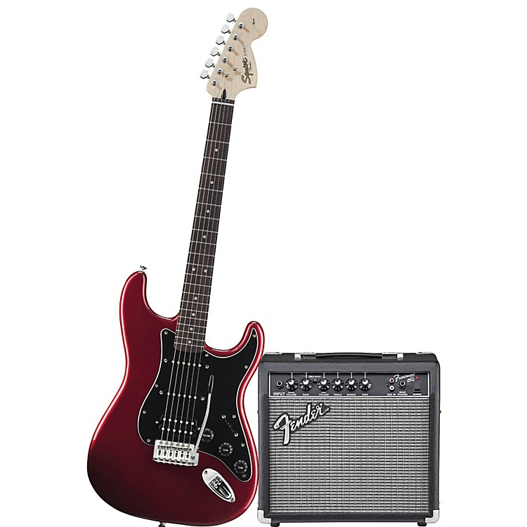 SquierAffinity Series HSS Stratocaster Electric Guitar Pack with 15G AmplifierCandy Apple Red
