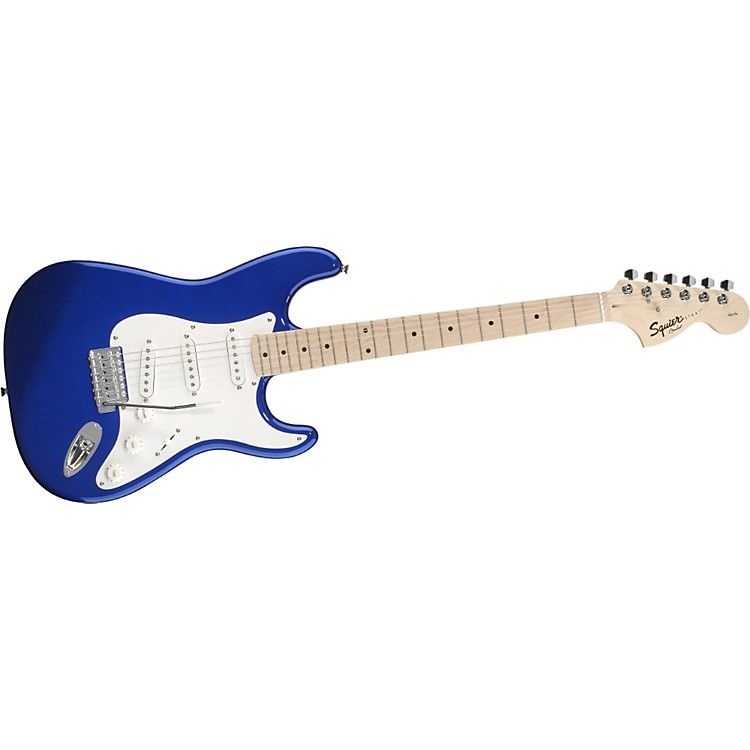 SquierAffinity Series Stratocaster Electric GuitarMetallic BlueMaple Fretboard