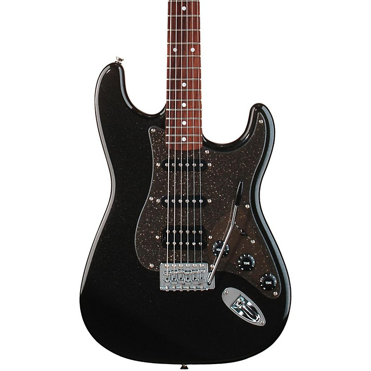 Squier Affinity Series Stratocaster HSS Electric Guitar Montego Black Metallic