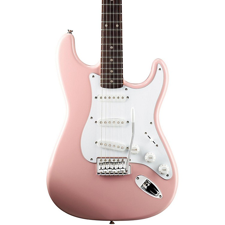 SquierAffinity Stratocaster Electric Guitar with Rosewood FingerboardShell PinkRosewood Fingerboard