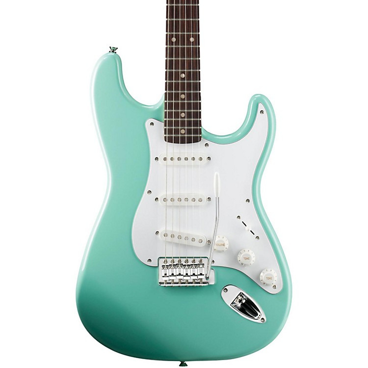 Squier Affinity Stratocaster Electric Guitar with Rosewood Fingerboard Surf Green Rosewood Fingerboard