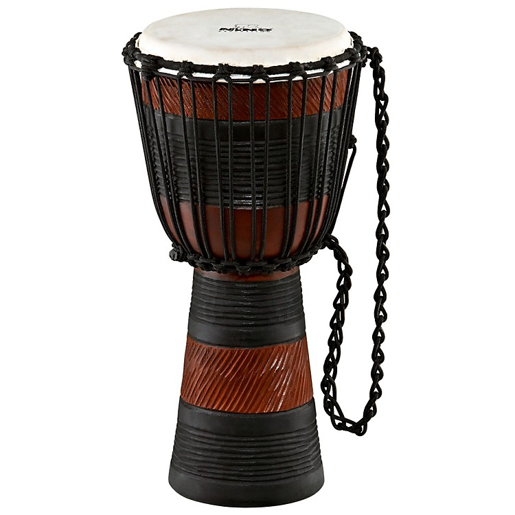 Nino African Style Rope Tuned Djembe Small Earth Series 10 in.