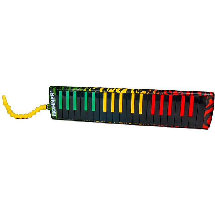 HohnerAirboard Rasta Print With Bag And Blowflow Mouthpeice37-Key