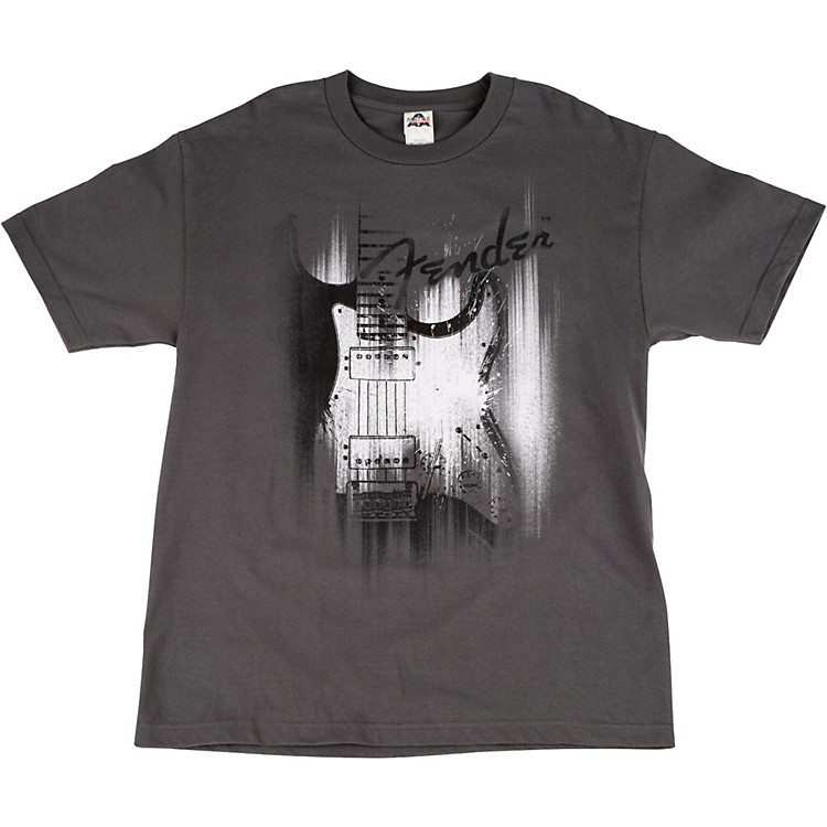 Fender Airbrushed Strat T-Shirt Small Gray