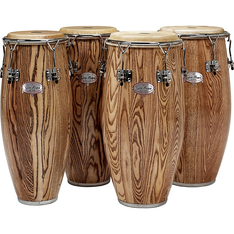 Gon Bops Alex Acuna Series Super Quinto Drum Natural Lacquer
