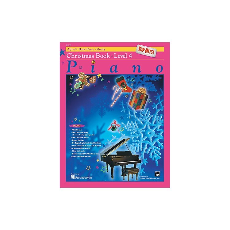 Alfred Alfred's Basic Piano Course Top Hits! Christmas Book 4