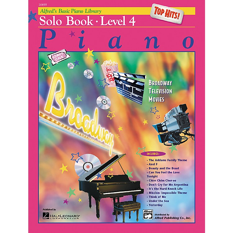 Alfred Alfred's Basic Piano Course Top Hits! Solo Book 4