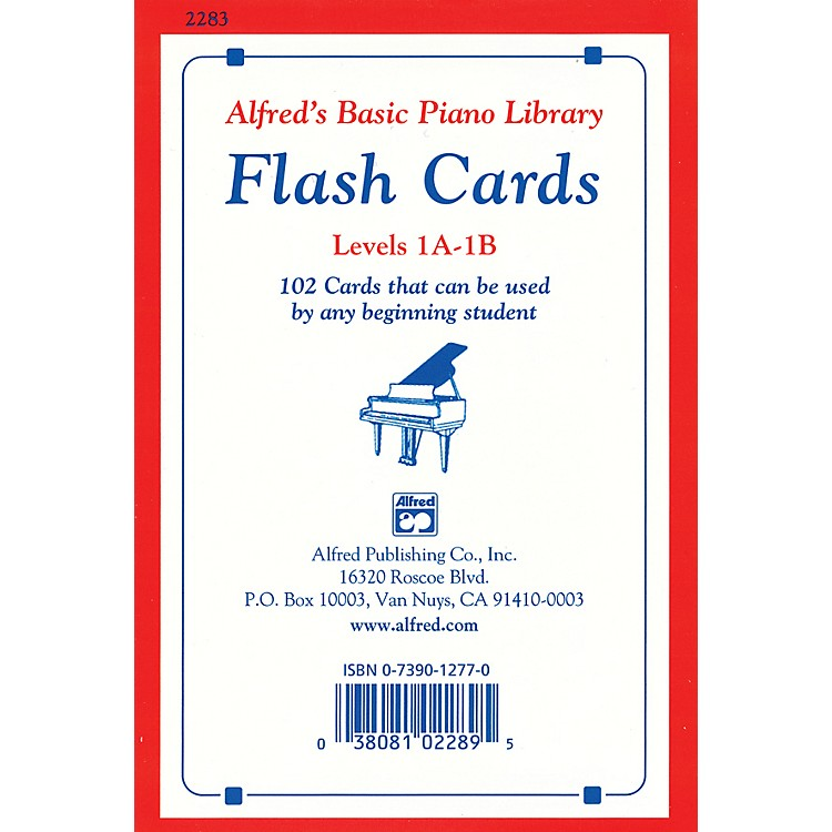 AlfredAlfred's Basic Piano Library Flash Cards Levels 1A & 1B