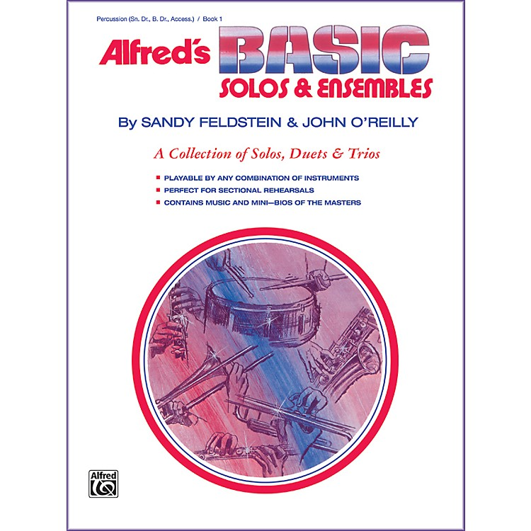 AlfredAlfred's Basic Solos and Ensembles Book 1 Percussion Snare Drum Bass Drum & Accessories