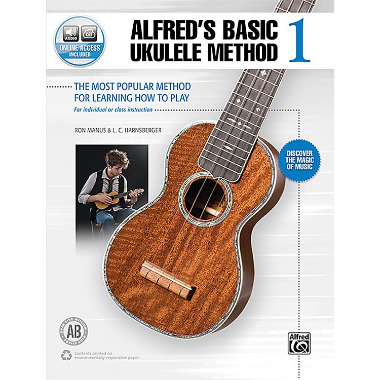 BELWIN Alfred's Basic Ukulele Method 1 Book & Online Audio Beginner