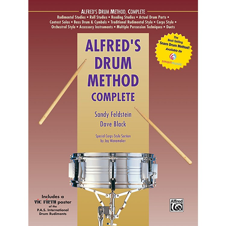 AlfredAlfred's Drum Method Complete Book & Rudiment Poster