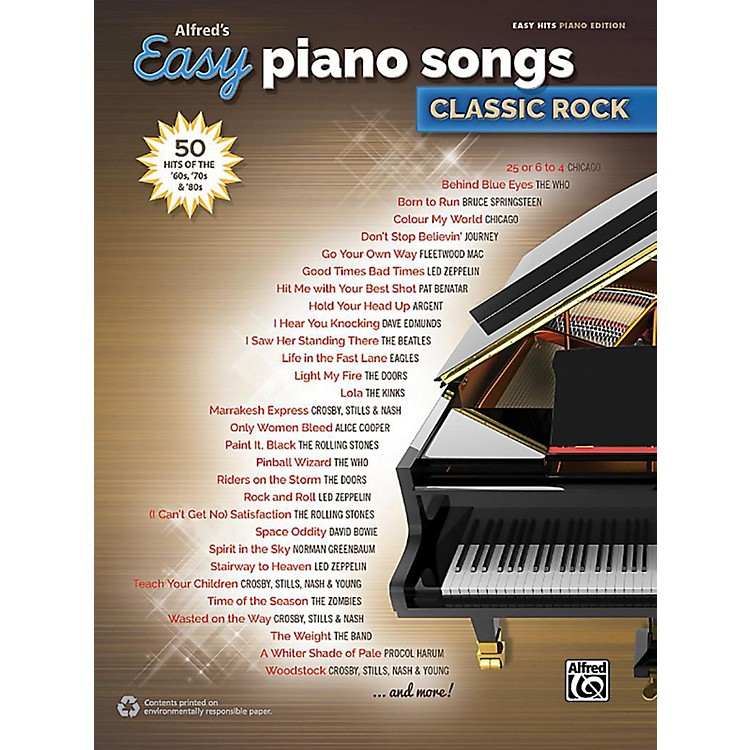 AlfredAlfred's Easy Piano Songs: Classic Rock - Easy Hits Piano