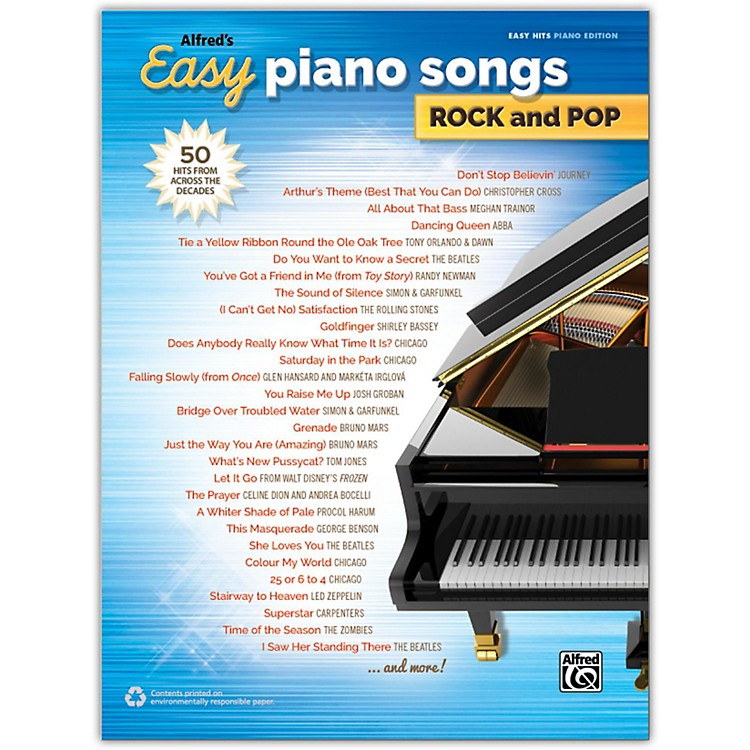 AlfredAlfred's Easy Piano Songs: Rock and Pop Easy Hits Piano Songbook