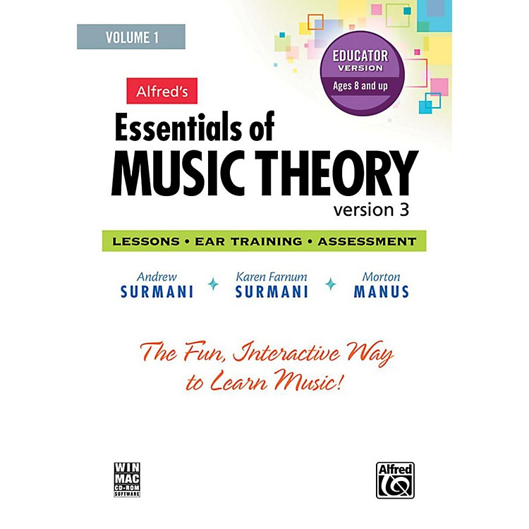 AlfredAlfred's Essentials of Music Theory: Software, Version 3 CD-ROM Educator Version, Volume 1