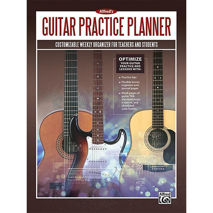 AlfredAlfred's Guitar Practice Planner Planner, Student Journal & Manuscript Paper Book