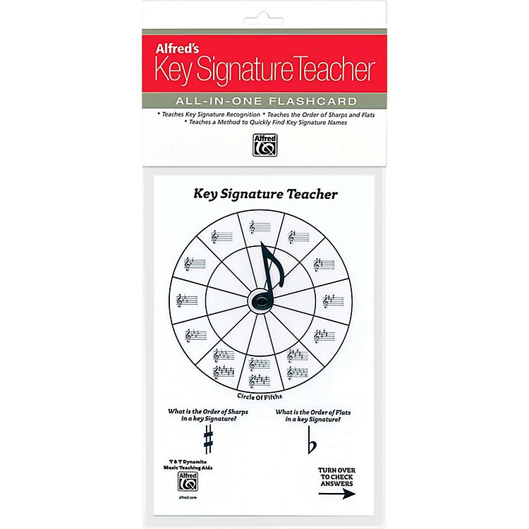 AlfredAlfred's Music Key Signature Teacher All-In-One Flashcard (White)