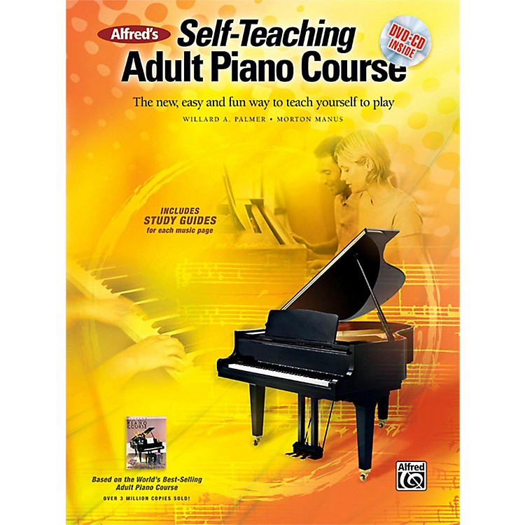 AlfredAlfred's Self-Teaching Adult Piano Course Book, CD & DVD