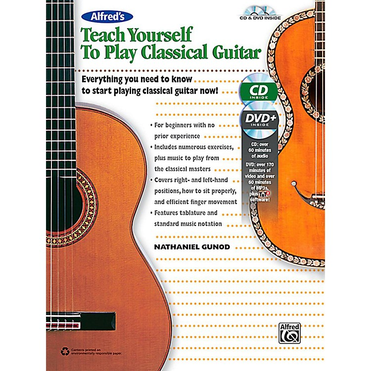 AlfredAlfred's Teach Yourself to Play Classical Guitar Book, CD & DVD
