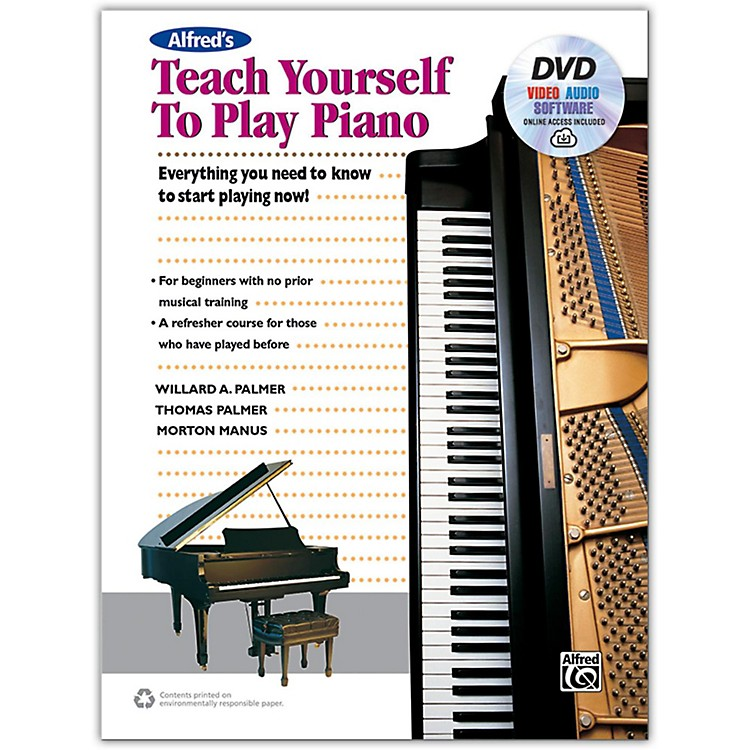 AlfredAlfred's Teach Yourself to Play Piano - Book, DVD & Online Audio, Video & Software
