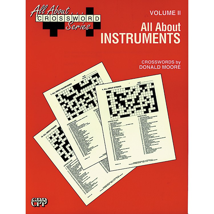 AlfredAll About ... Crossword Series, Vol. II All About Instruments Music Game Book