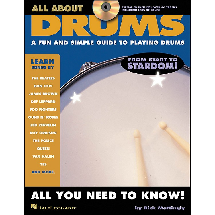 Hal LeonardAll About Drums Book/CD Series