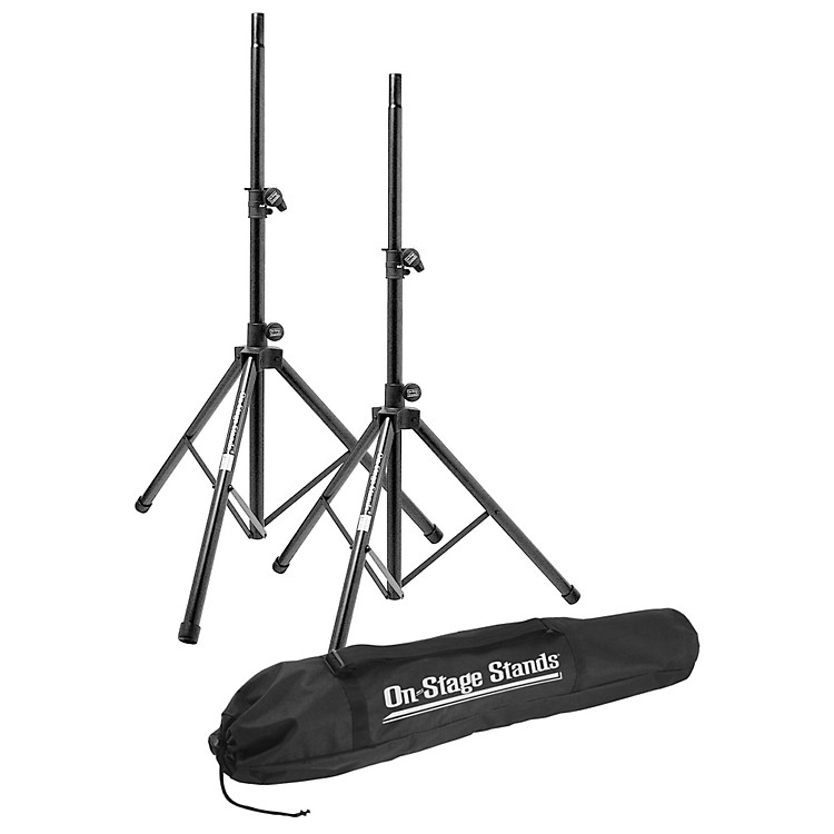 On-Stage StandsAll-Aluminum Speaker Stand Pak With Draw String Bag