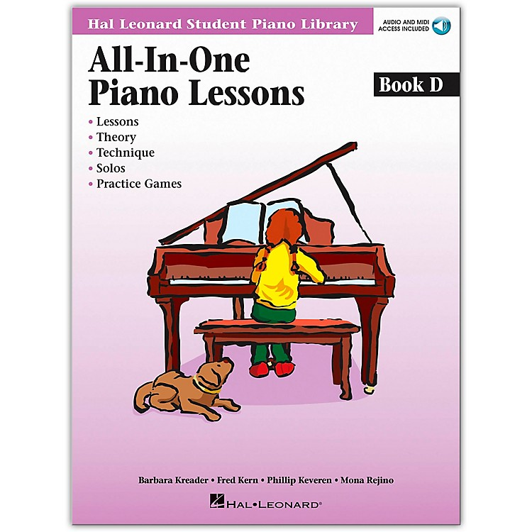 Hal Leonard All-In-One Piano Lessons Book D Book/CD