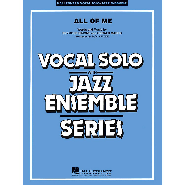 Hal LeonardAll Of Me Vocal Solo Jazz Band Level 3 - 4