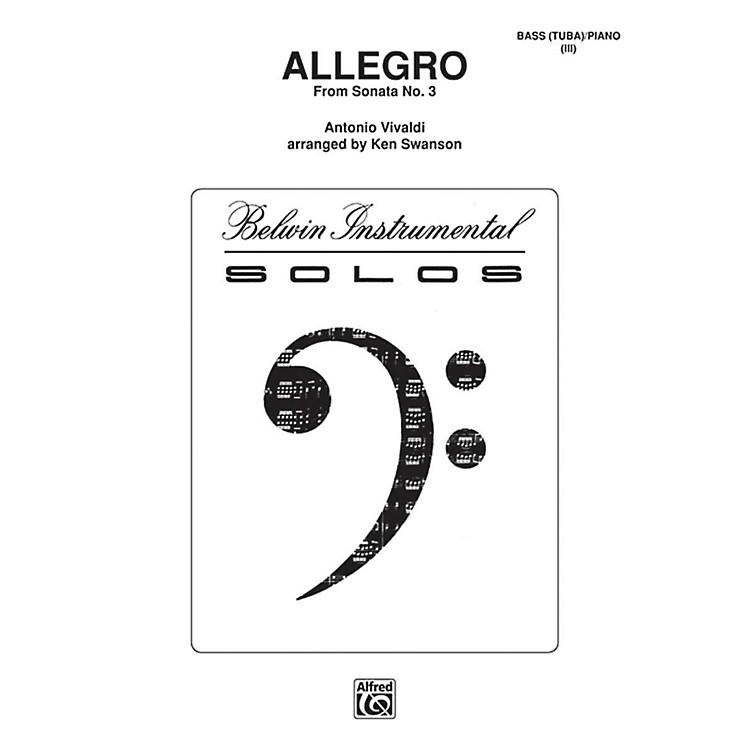 AlfredAllegro for Tuba By Antonio Vivaldi / arr. Kenneth Swanson Book