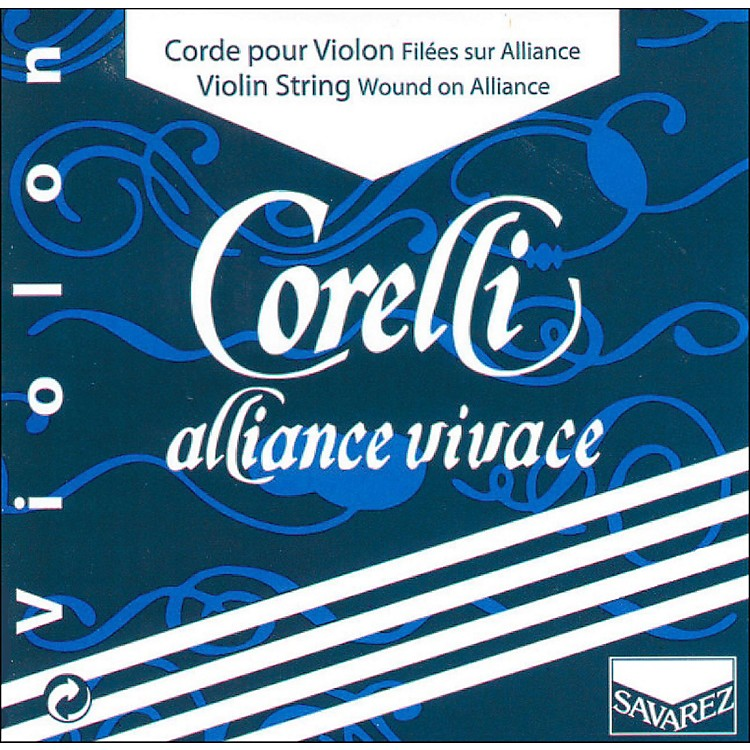 Corelli Alliance Vivace Violin String Set 4/4 Size Medium Loop End