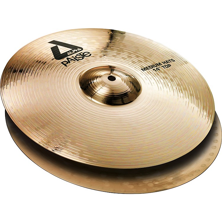 Paiste Alpha Brilliant Medium Hi-Hat Pair 14 inch