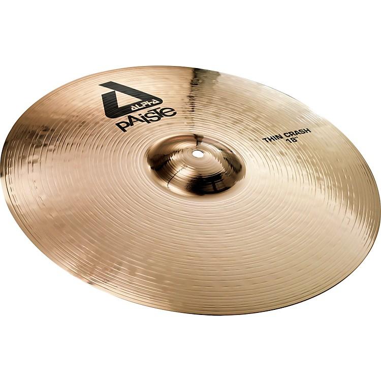 PaisteAlpha Brilliant Thin Crash Cymbal18 in.