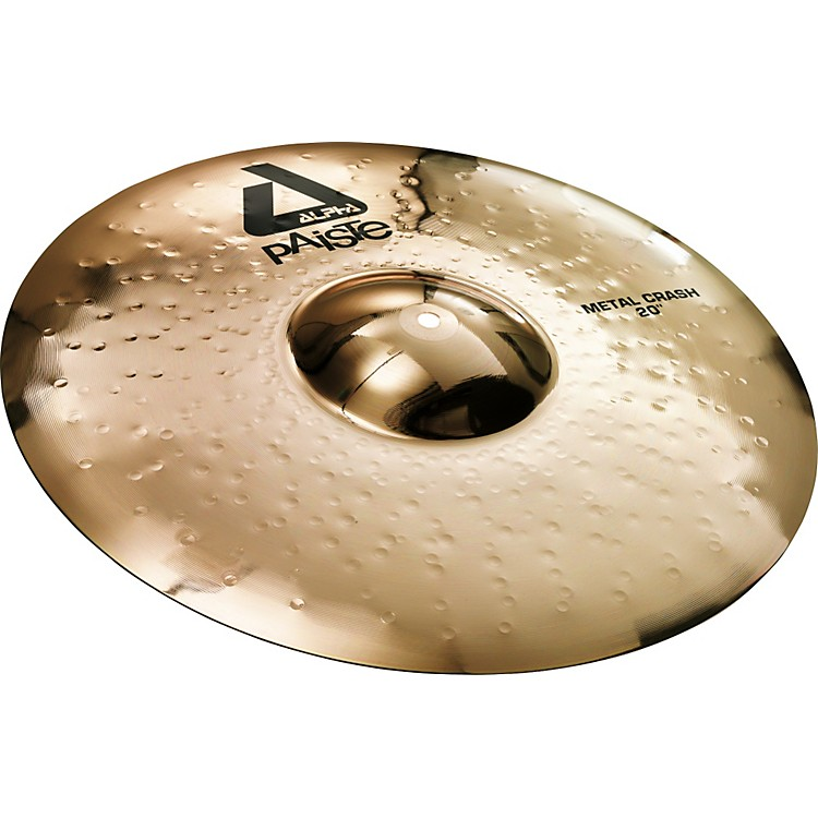 PaisteAlpha Metal Crash Cymbal with Brilliant Finish