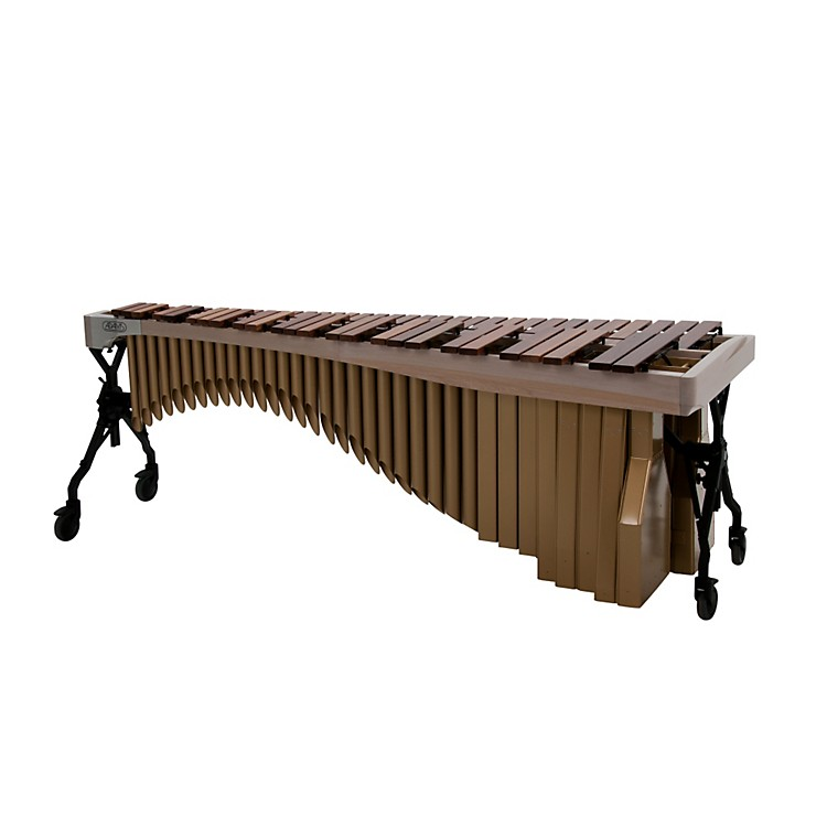 Adams Alpha Series 5.0 Octave Rosewood Marimba with White Wash Rails Satin Gold Resonators