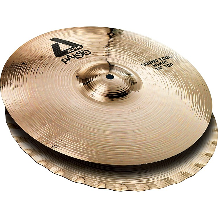 Paiste Alpha Sound Edge Hi-hat Pair, Brilliant 14 inch