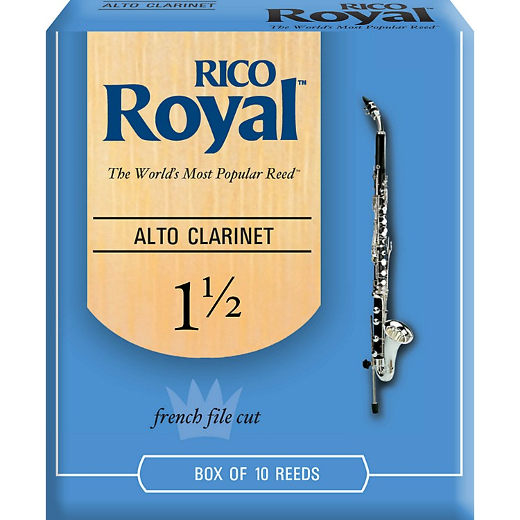 Rico Royal Alto Clarinet Reeds, Box of 10 Strength 1.5