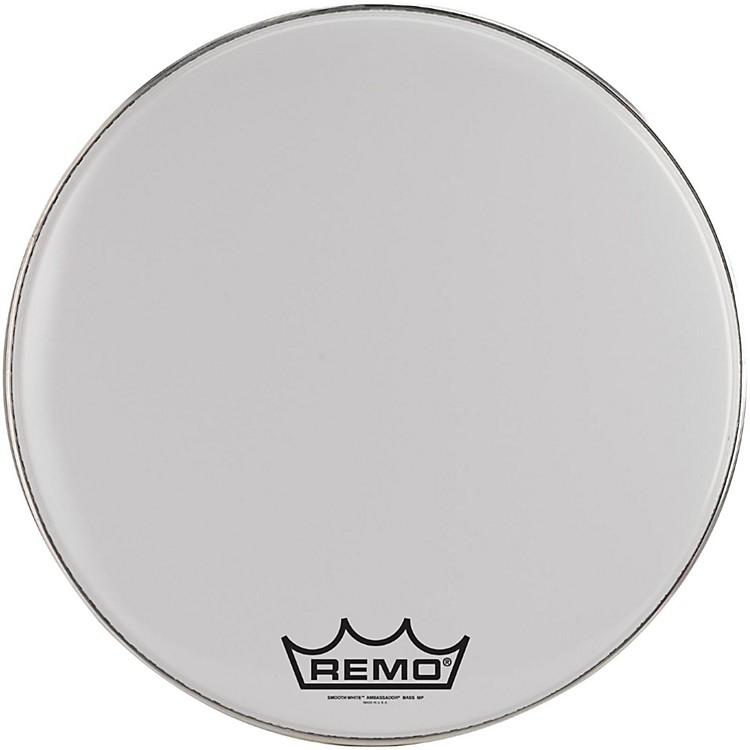 RemoAmbassador Smooth White Bass Head with Crimplock Collar