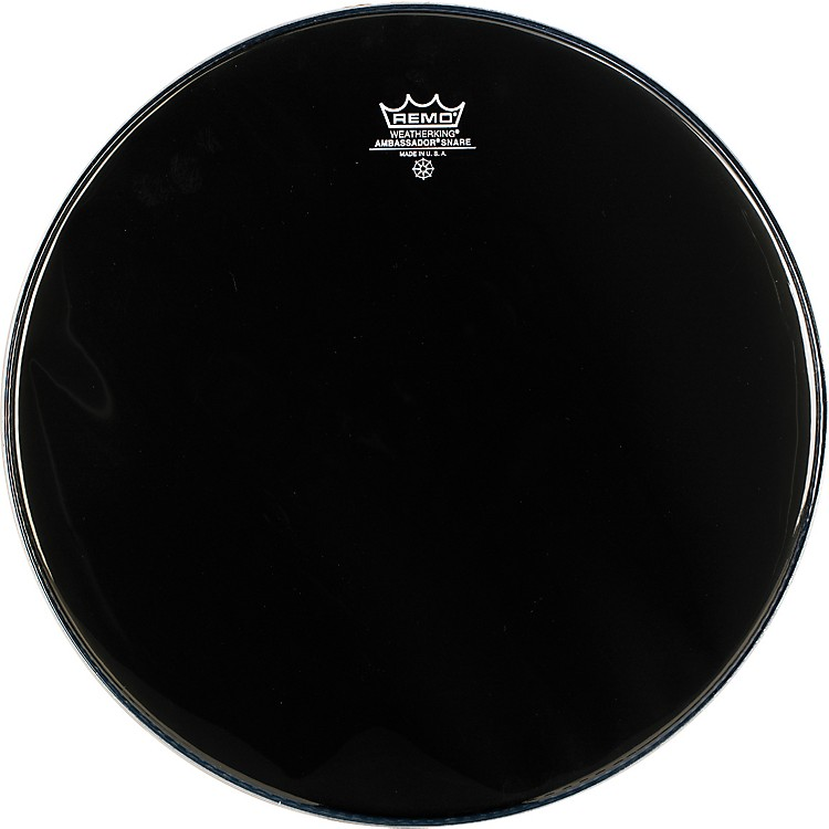 Remo Ambassador Snare Drum Head No Collar 14 in. Ebony