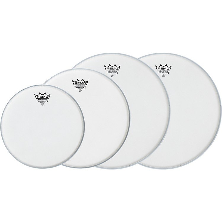 RemoAmbassador X Fusion Drumhead Pack, Buy 3 Get a Free 14 Inch Head